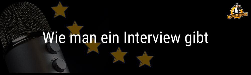 Wie man ein Interview gibt Onlinemarketing und Neukundengewinnung www.Neukundenheld.de